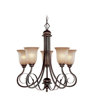 Fleur De Lis Living Melba 5-Light Shaded Chandelier