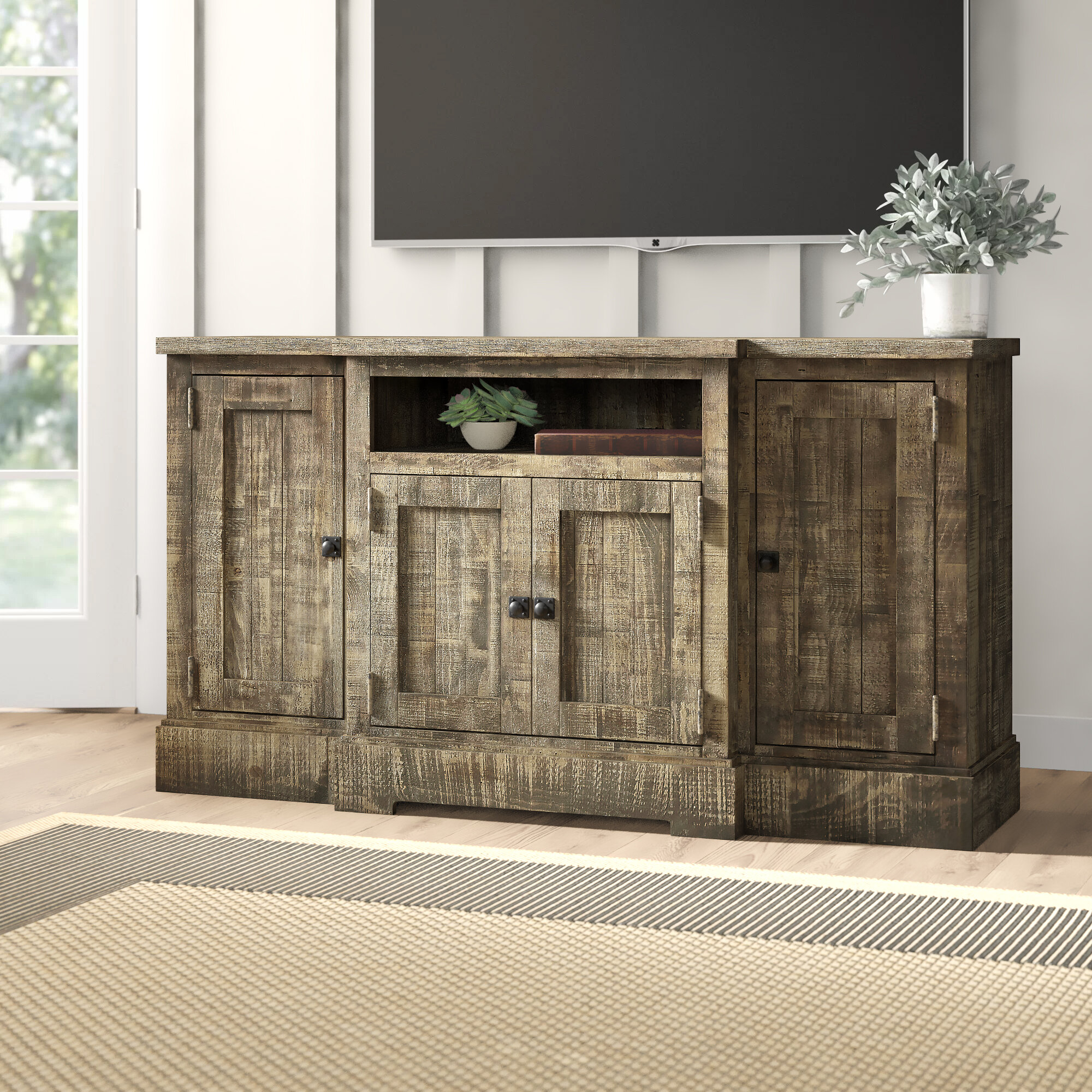 Birch Lane Locklear Solid Wood Tv Stand For Tvs Up To 65 Reviews Wayfair