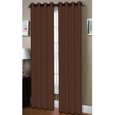 Raphael Heathered Extra Wide Solid Sheer Grommet Single Curtain Panel
