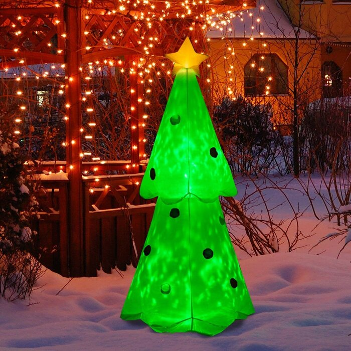 Glowing Christmas Tree Led Lighted Outdoor Airblown Inflatable