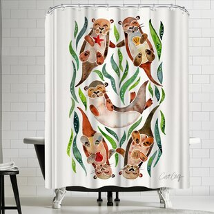 Five Otters Shower Curtain
