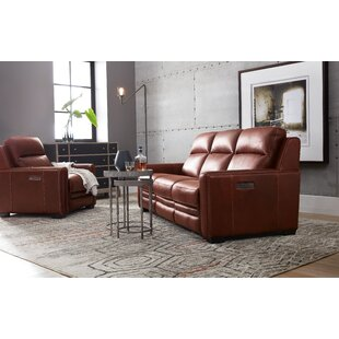 Aviator Reclining Leather Configurable Living Room Set