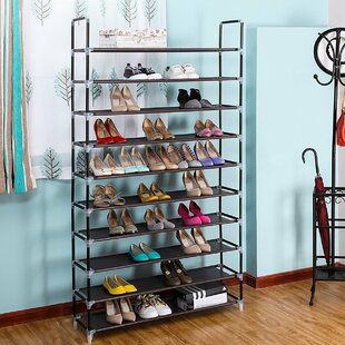 Look for 10 Tiers 50 Pairs Shoe Rack By Rebrilliant