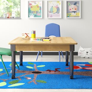 Adjustable Height Square Activity Table by Wood Designs