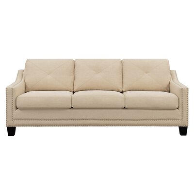 """Vaillancourt Sofa Upholstery Color: Natural, Size: 37"""" H x 90"""" W x 34"""" D by August Grove"""