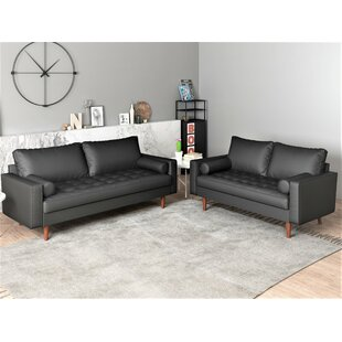 Great Price Gabler 2 Piece Living Room Set by George Oliver Reviews (2019) & Buyer's Guide