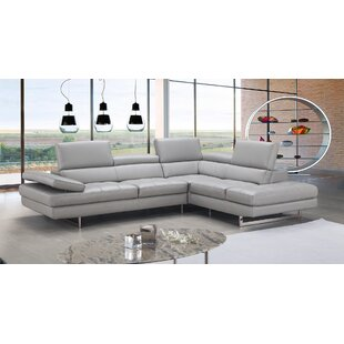 Aurora Leather Sectional by J&M Furniture