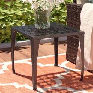 Kavanaugh Outdoor Metal Side Table by Charlton Home Today Only Sale