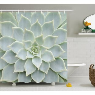 Hadleigh Cactus Plant Flower Zoomed Photo Image Desert Mexican Hot Natural Artwork Shower Curtain