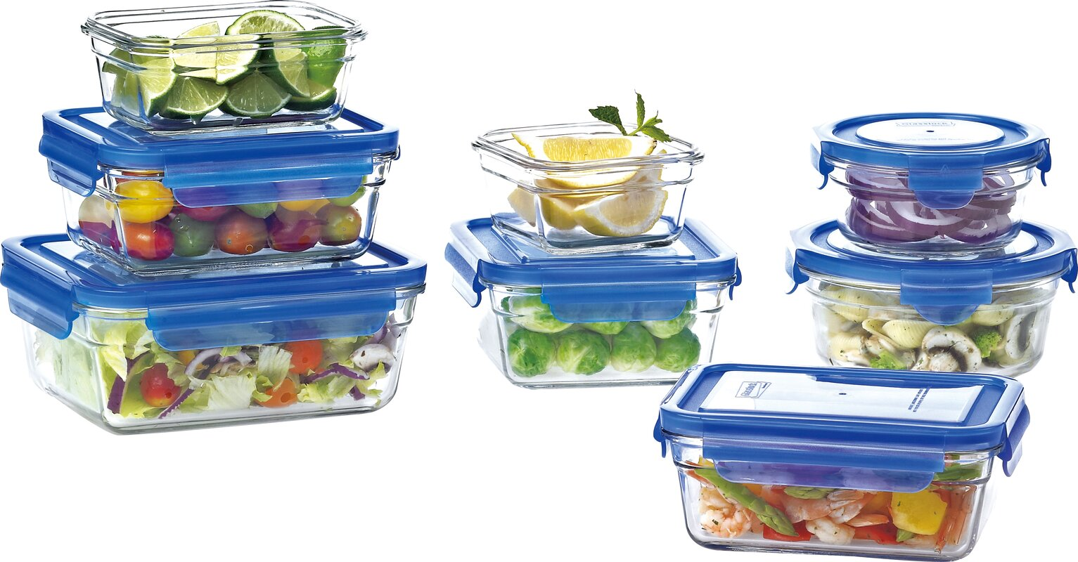 Perfect Glasslock 9 Container Food Storage Set