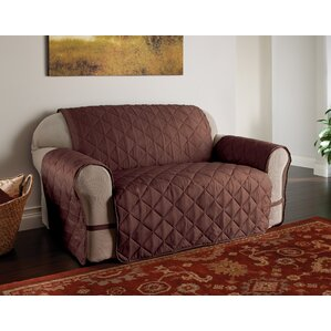 Duvig Box Cushion Loveseat Slipcover by Red ..