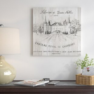'Chateau Chambort on Wood' Vintage Advertisement on Canvas By East Urban Home