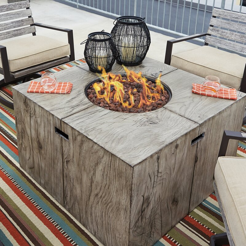 Superbe Lilah Aluminum Propane Fire Pit Table