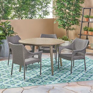 Bungalow Rose Macaulay Outdoor 5 Piece Dining Set
