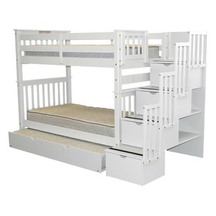 Tena Tall Twin Over Twin Bed with Trundle by Harriet Bee