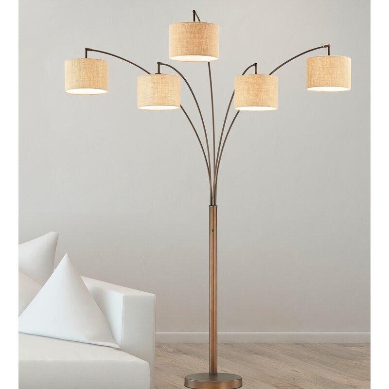 "Corrigan Studio Lehigh 83"" LED Tree Floor Lamp & Reviews"
