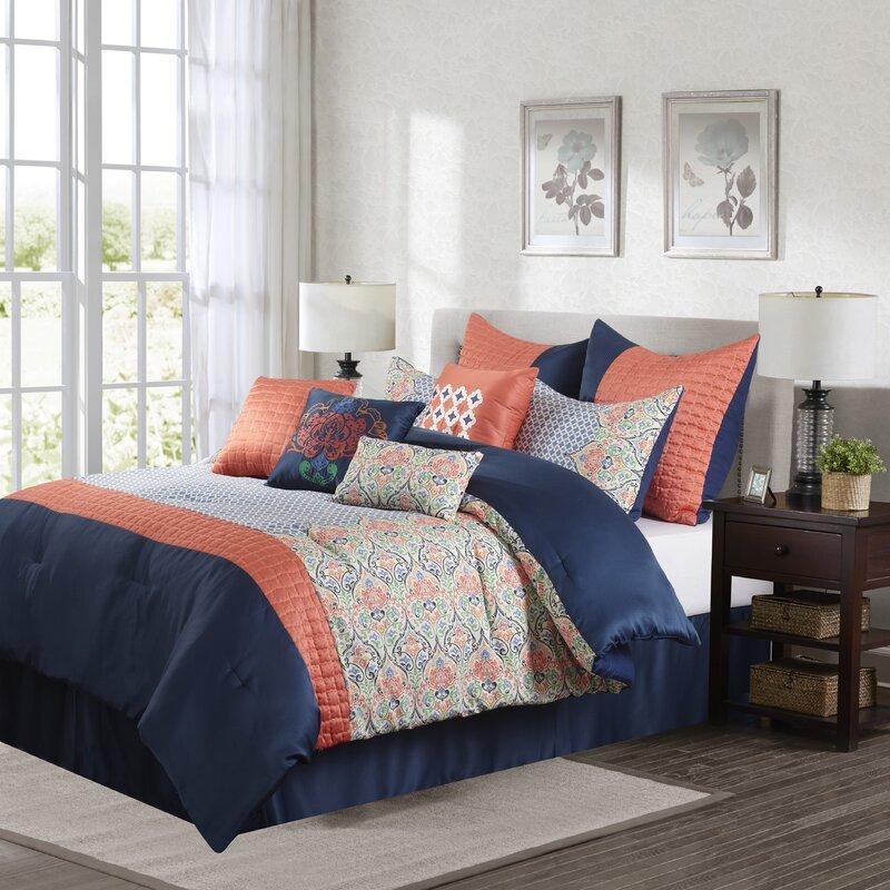 Bungalow Rose Raymonde 10 Piece Comforter Set Reviews Wayfair