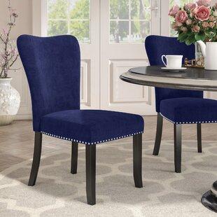 Willa Arlo Interiors Kaat Velvet Dining Side Chair (Set of 2)