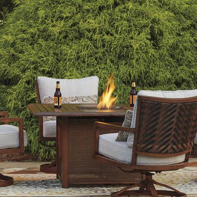 Barrand Aluminum Propane Fire Pit Table