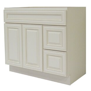 Cabinet 36 Single Bathroom Vanity Base by NGY Stone & Cabinet