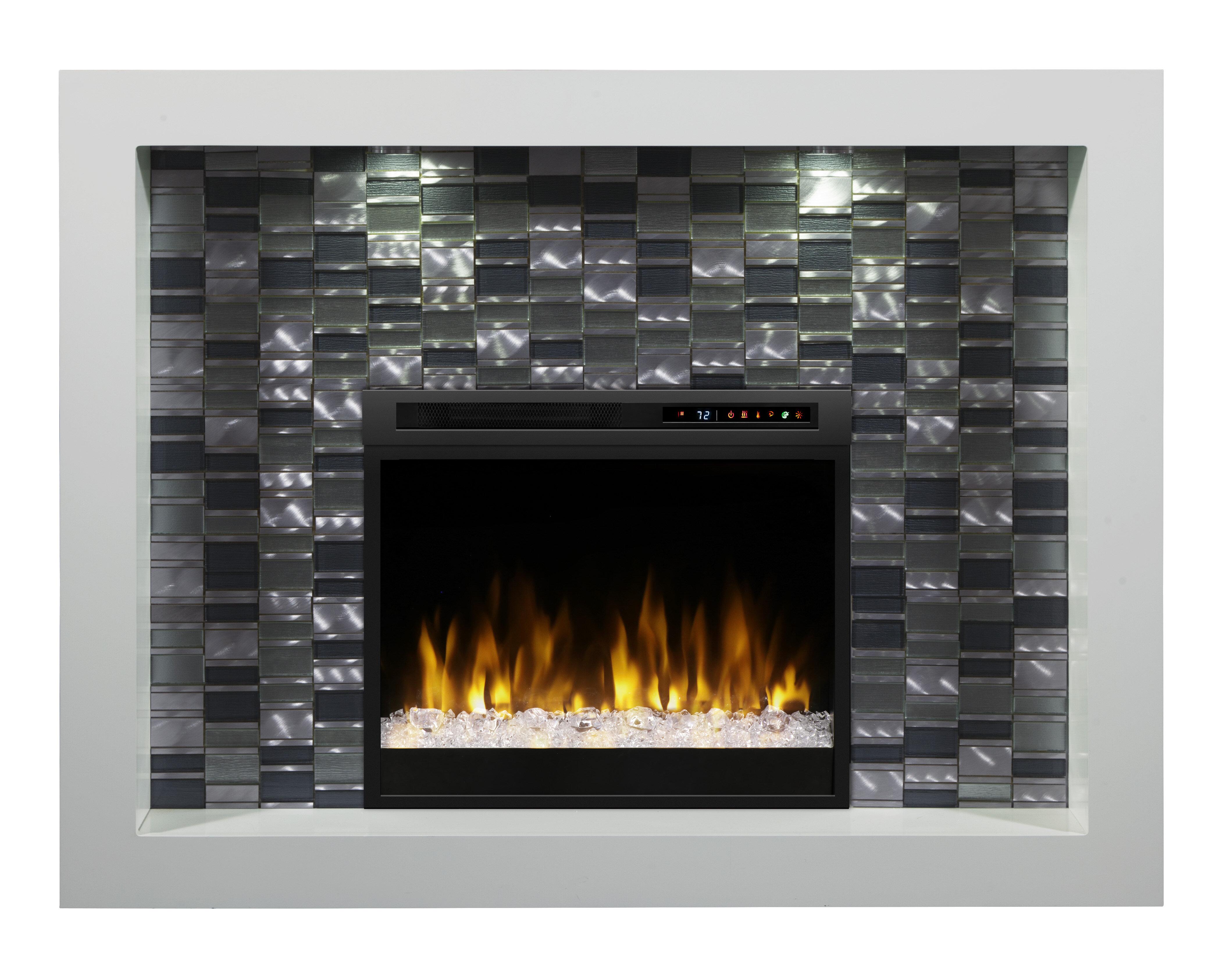 Dimplex Crystal Recessed Electric Fireplace Wayfair