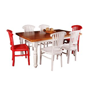 August Grove Adelmo 7 Piece Whitewashed Dining Set