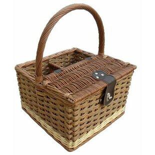 Two Tone Hambledon Empty Picnic Basket By Brambly Cottage
