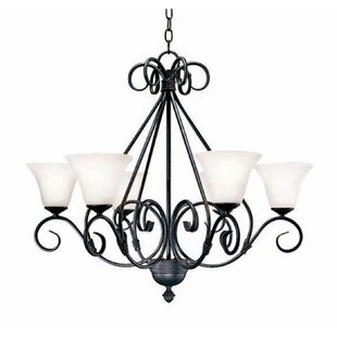 2nd Ave Design Olivia 6-Light Shaded Chandelier