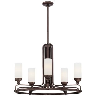 Metropolitan by Minka Industrial 5-Light Shaded Chandelier
