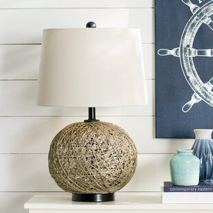 Inexpensive Bar Mills Woven Natural Rattan Ball 29 Table Lamp By Breakwater Bay