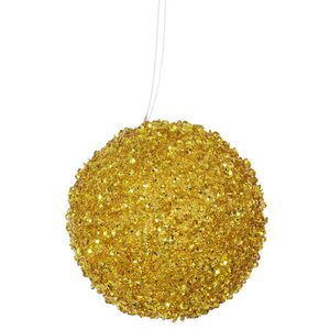 Sequin and Glitter Drenched Christmas Ball Ornament (Set of 6)