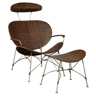 R. Douglas Home Spacely Lounge Chair and Ottoman