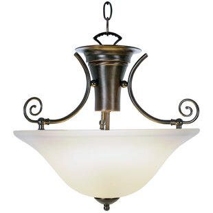 Monument Wellington Lighting 1-Light Bowl Pendant