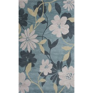 Bradshaw Hand-Tufted Blue/Pink Area Rug