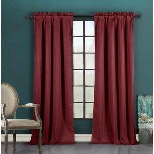 Devon Solid Rod Pocket Solid Sheer Blackout Curtain Panels