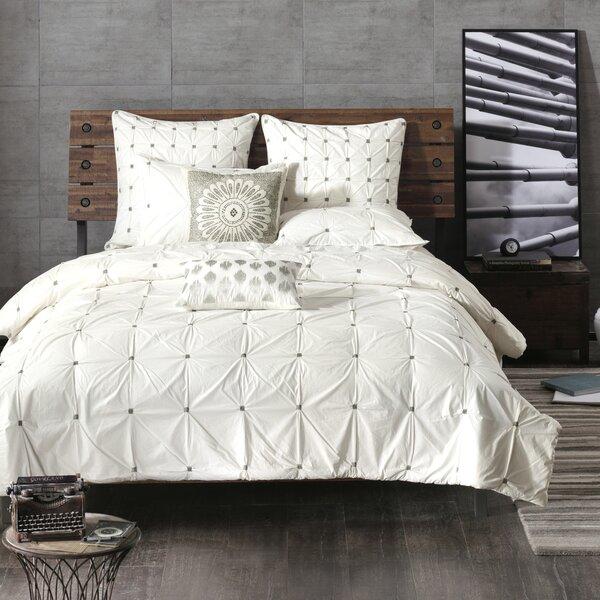 White Embroidered Duvet Cover Wayfair