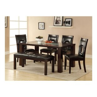 Pioneer Wooden 6 Piece Dining Table Set