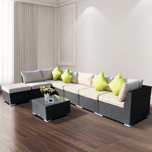 Sebeka 7 Seater Rattan Sofa Set By Sol 72 Outdoor