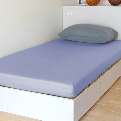 "Breathable And Waterproof Select Fitted Sheet And Protector Bsensible Size: 75"" H X 54"" W X 12"" D, Color: Lavender"