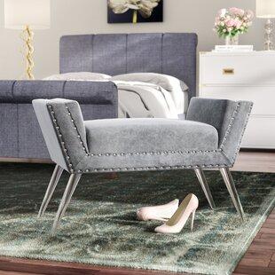 Mercer41 Selznick Upholstered Bench with Acrylic Leg