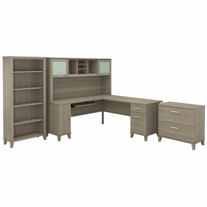 Kirchoff Desk 4 Pieces Office Set With Hutch