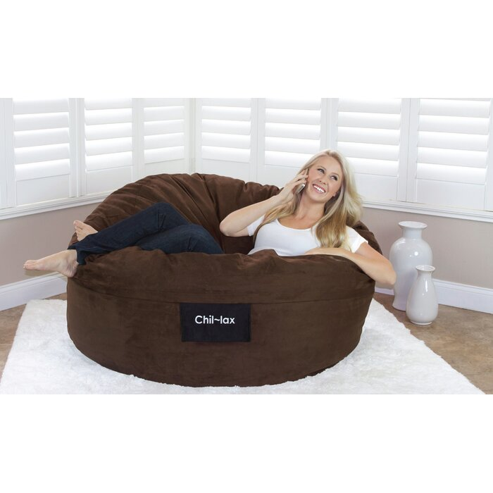 Strange Chil Lax Lounger Chocolate Suede 30 H X 48W X 48 D Bean Bag Chair Uwap Interior Chair Design Uwaporg