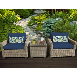 TK Classics Monterey 3 Piece Conversation Set with Cushions