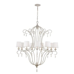 Feiss Caprice 9-Light Shaded Chandelier