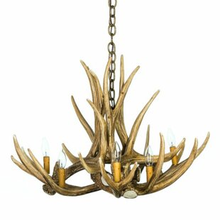 Millwood Pines Natasha Mule/Deer 6-Light Novelty Chandelier