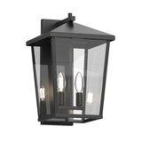 Aquadale Black 2 - Bulb 15'' H Outdoor Wall Lantern