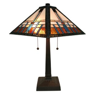 Savings Tiffany Mission 21 Table Lamp By Amora Lighting