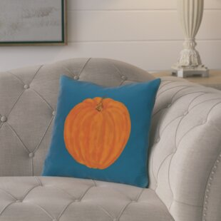 Ivy Lil Pumpkin Holiday Outdoor Throw Pillow