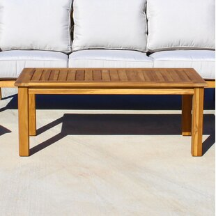 Chancy Courtyard Teak Coffee Table