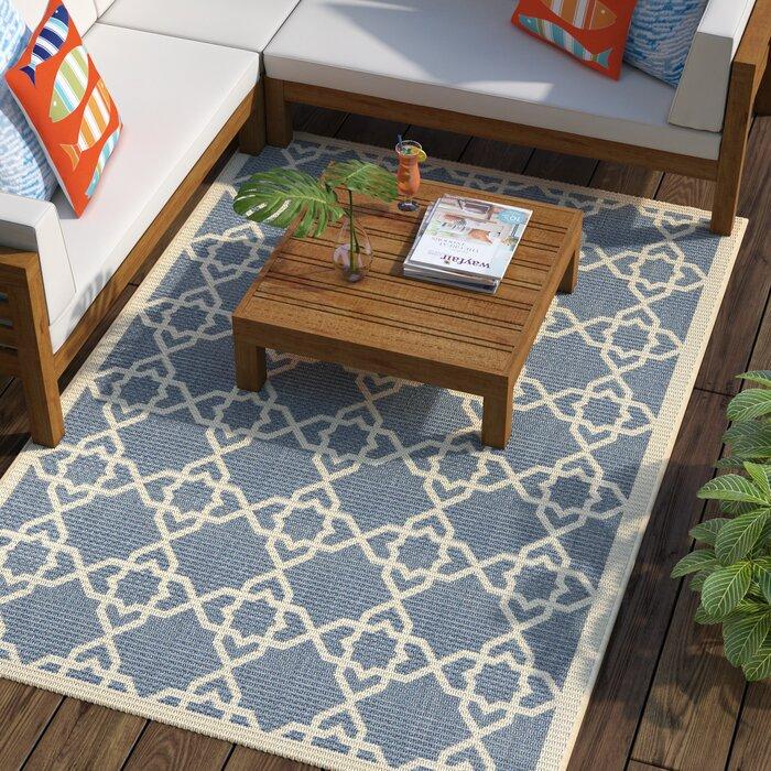 Ceri Blue Beige Indoor Outdoor Rug